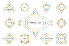Tribal Line Logos & Badges Templates by Favete Art on Creative Market