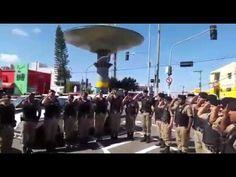 Policia Militar presta homenagem ao Cabo PM Marcos, morto em serviço nes...