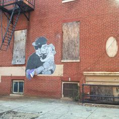 """Daddy loves Baby love Bricks"" Street art, Baltimore"