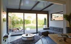Découvrez la Véranda Contemporaine, une collection en aluminium ouverte sur la nature. - Rénoval Véranda