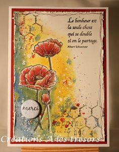 Défi Remercier avec des coquelicots, Sketch proposée par Maryse  http://scrapbooktendance.forums-actifs.com/t1914-defi-sketch-carte