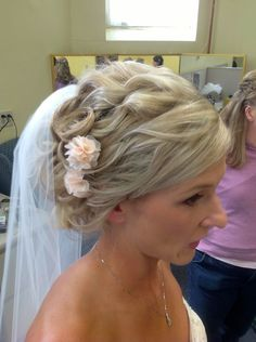 My wedding hair with Veil