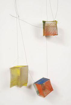 Heidemarie Herb  Necklace: NETZWERK 2012  Brass, pigments, ag, wire