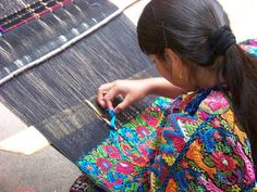 back strap loom weaving