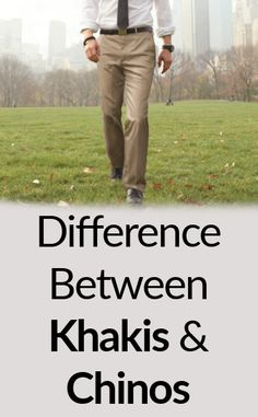 Difference Between Khakis and Chinos