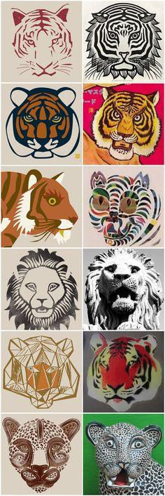 Tea Collection Tiger faces and corresponding cultural inspiration