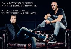 Today, I am proud to say Daily-Beat.com is teaming up with Webster Hall VIP again to give our followers a chance to win 4 VIP (21+only) tickets to Showtek this Saturday, February 9 at Webster Hall....