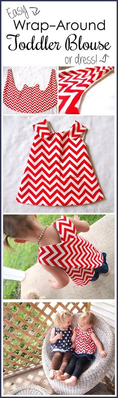Suuuper simple wrap-around dress tutorial... so cute for toddlers! {Sawdust and Embryos}
