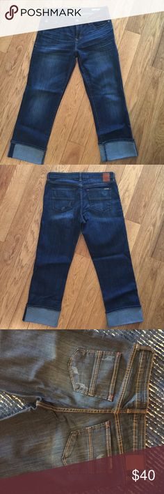 Dear John Capri Blur Jeans Like new.  Wore 3 times.  Excellent condition.  Comes from pet free, smoke free home. Dear John Jeans Ankle & Cropped