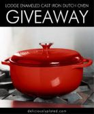Lodge Enameled Cast Iron Dutch Oven Giveaway  Open to: United States Ending on: 11/12/2017 Enter for a chance to win one Lodge Enameled Cast Iron Dutch Oven $50 retail value. Enter this Giveaway at DeliciouslyPlated  Enter the Lodge Enameled Cast Iron Dutch Oven Giveaway on Giveaway Promote.