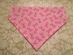 #PinkRibbon Over-the-Collar Pet #Bandana 2123 by HemptressDesigns #breastcancerawareness #savethetatas #fightlikeagirl