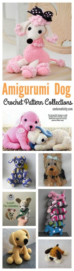 Crochet Adorable Amigurumi Stuffed Dog Pattern Collections