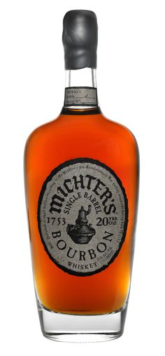 "Michter's Single Barrel 20 year Old Bourbon Whiskey ""This is the ultimate bourbon indulgence; only 220 bottles available; smooth and toasty with gorgeous depth and stunningly appraochable flavors - lush, rich and comforting; despite its high proof )114.2) absolutely the most drinkable and seductive bourbon out there; I'm just going to curl up with my bottle and finish it."""