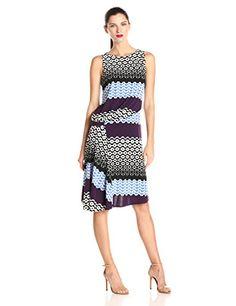 Donna Morgan Women's Sleeveless Printed Asymmetrical Drape Pleated Dress, Eggplant Multi, 2 Donna Morgan http://smile.amazon.com/dp/B00R0UNAK0/ref=cm_sw_r_pi_dp_f13kvb04D3RDC