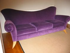 Purple Couch   Good Questions: Who Made my Purple Sofa?   Apartment Therapy