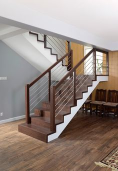P166-01 Stair Design, Canopy Design, Wood Stairs, Staircases, Mj, Man Cave, Balcony, Architects, Entryway
