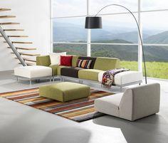 Living Room Interior Design with Reflex Sofa by Toine van den Heuvel Modular Furniture, Modular Sofa, Furniture Plans, Home Furniture, Lounge Furniture, Living Room Arrangements, Living Room Furniture Arrangement, Living Room Sofa, Sofa Couch