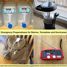 Emergency Preparedness for Storms, Tornadoes and Hurricanes @ Common Sense Homesteading