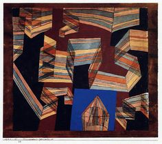 Paul Klee 'Transparent - Perspectively' 1921 Ink and watercolor 26 x 23.5 cm