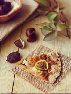 Pizza de copos de avena, higos y queso azul { descubriendo el otoño}