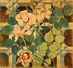 Stanisław Wyspiański, Roses - polychromy in St. Francis of Assisi's Church, Kraków, 1895