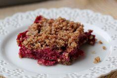 Vegan Cranberry Crumble Bars by Daily Garnish