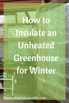 Indoor Vegetable Gardening how to insulate greenhouse for winter - Greenhouse insulation, protecting the greenhouse for Winter with bubble wrap.