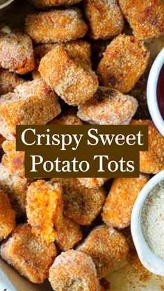 Healthy Potato Recipes, Savory Snacks, Vegetable Recipes, Sweet Potato Tots, Crispy Sweet Potato, Vegan Food, Healthy Food, Healthy Eating, Chef Recipes