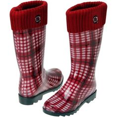South Carolina Gamecocks Ladies Rain Boots - Garnet