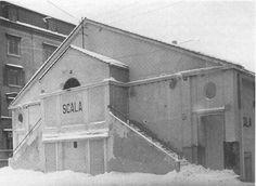"""Cinéma """"La Scala"""", La Chaux-de-Fonds, Switzerland, 1916, Le Corbusier Le Corbusier, Building, Art Design, Contemporary Architecture, Art History, Architects, Whitewash, Winter, Construction"""
