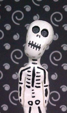 Day of the Dead Art El Muerto by MsBittyKnacks on Etsy, $20.00