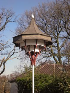 Joachim Tantau - Swallow tower, designed for swallows to built their nests on. Swallows, Cabinet Makers, Nests, Gazebo, Architecture Design, Tower, Outdoor Structures, Bird, Building