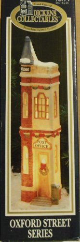Dickens Collectibles Oxford Street Series Christmas Holiday Village Porcelain Lighted Houses Post Office Vtg in Box * To view further for this item, visit the image link.
