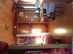Inside the Caboose