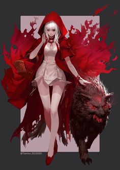 Now this is my idea of Red Riding Hood & The Wolfe!