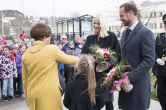 "21 April 2016 - Haakon and Mette-Marit attend the conference ""Marine Proteins and Peptides"" Symposium"