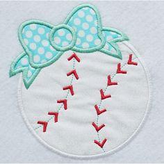 2c18bcd8d39a0e Bow Baseball Applique - Planet Applique Inc Applique Patterns