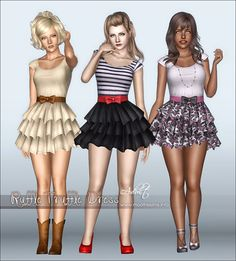 Sims 3 Download: Dress Ruffle Truffle [ ] downloaded- already have this (: