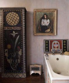 Vintage Bathroom Decor- Charleston House, Bloomsbury