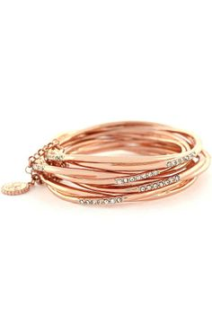 Rose Gold Pave Stack Bracelets - feminine & pretty.  I love rose gold.