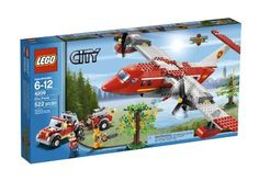 Compare prices on LEGO City Set Fire Plane from top online retailers. Save money on your favorite LEGO figures, accessories, and sets. Lego City Fire, Lego Fire, Lego City Police, Legos, Lego City Sets, Lego Toys, Lego Games, Lego Lego, Buy Lego