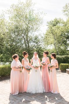 Mismatched pink bridesmaid dress ideas | The Mill Lakeside Manor | Photo By Idalia Photography