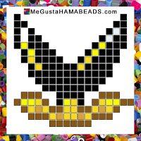 hama beads mario black piranha