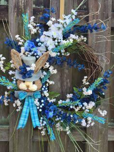 Easter Wreath, Rustic Easter, Easter Grapevine Wreath, Easter Bunny Wreath, Easter Floral, Easter Decor, Easter Front Door, Rustic Wreath This Rustic Easter Bunny Wreath is perfect for the country living familys front door! This wreath is READY TO SHIP to you, will ship same