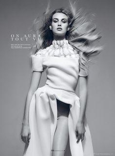 "Dauphine McKee in ""The Art of Couture"" by Benjamin Kanarek for the cover of ELLE Vietnam - More on http://www.benjaminkanarekblog.com/mbwv"