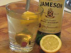 Hot Irish Whiskey (Hot Toddy)...http://www.food.com/recipe/hot-irish-whiskey-hot-toddy-342554#