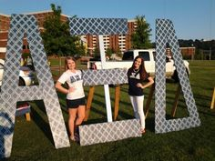 Alpha Xi Delta navy letters- Love seeing MY sisters on Pinterest :D