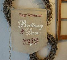 Wedding Ideas  with burlap   burlap wedding banner burlap wedding banner burlap wedding banner