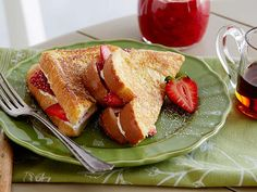 Strawberry-Cream Cheese Stuffed French Toast Recipe : Paula Deen : Food Network - FoodNetwork.com