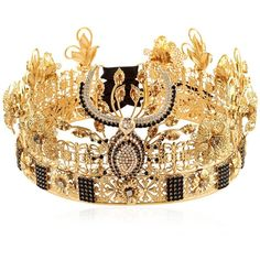 Vittorio Ceccoli Women Lady Macbeth Crown (€1.080) ❤ liked on Polyvore featuring accessories, hair accessories, gold and crown hair accessories